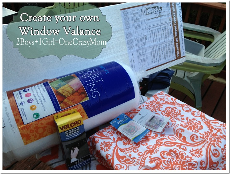 This is what you need to make the Window Valance #DYI style