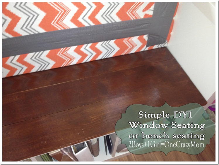 Use IKEA Expedite to create a window seat #DYI project