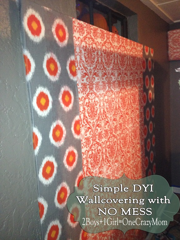 Add Fabric to your wall for a fun custom look without breaking the bank #DIY project