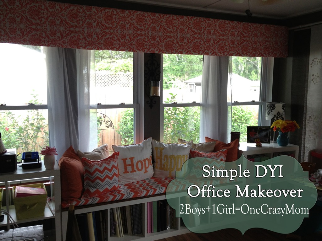 The Finished Office Makeover With Valance Dyi Projects And All