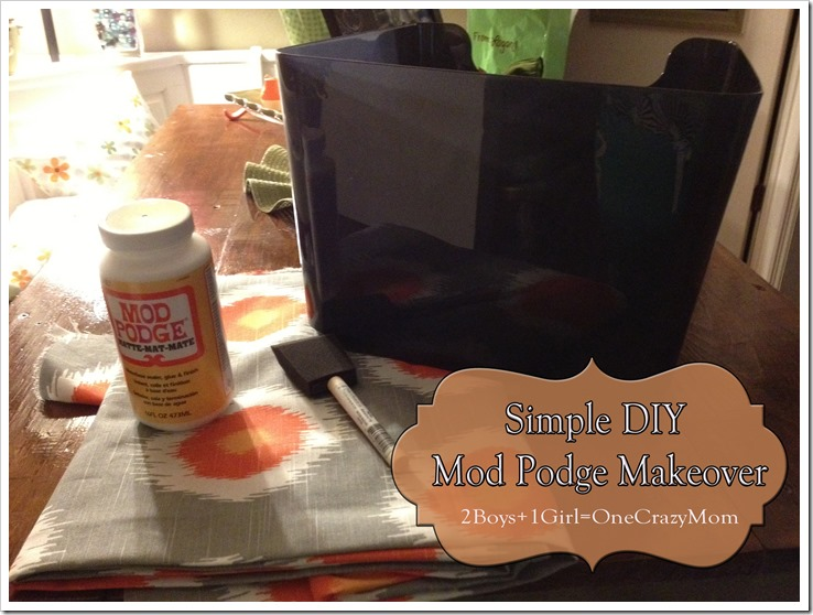 this is what you need to mod podge a plastic container and customize it to your style