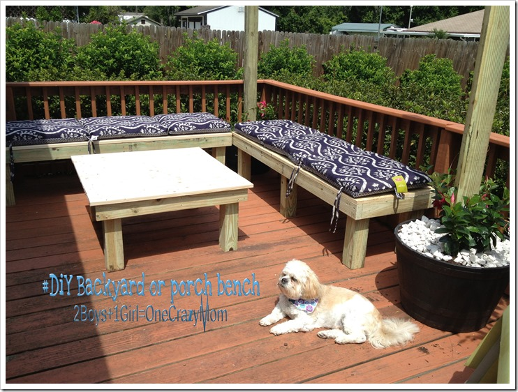 #DIY Backyard Bench Simple And Will Save You A Ton Of Money