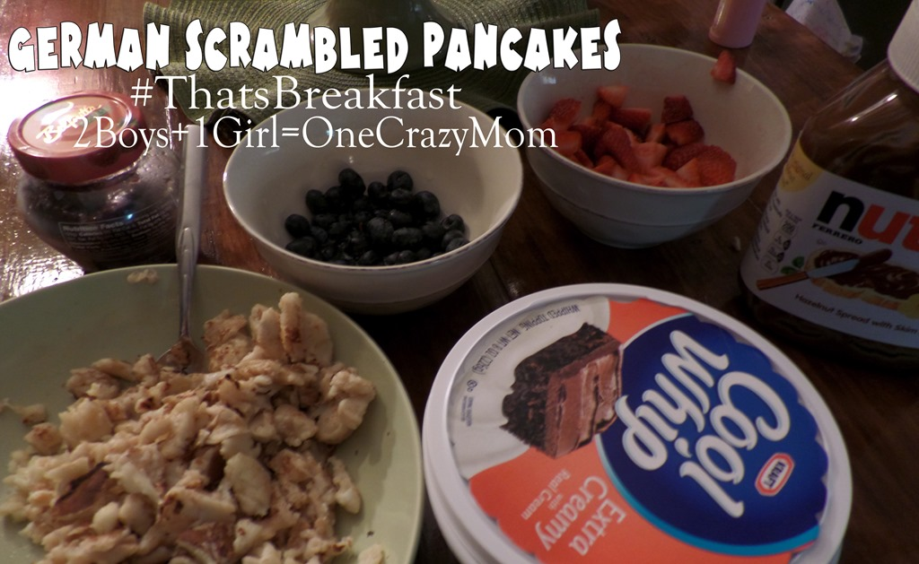 Make some German Scrambled Pancakes for Breakfast #Recipe