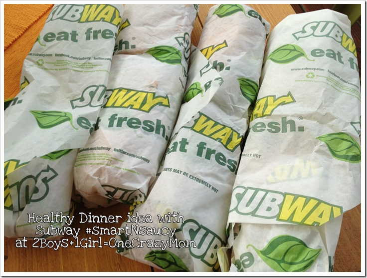 Enjoy a light dinner with Subway #smartNsaucy #Giveaway
