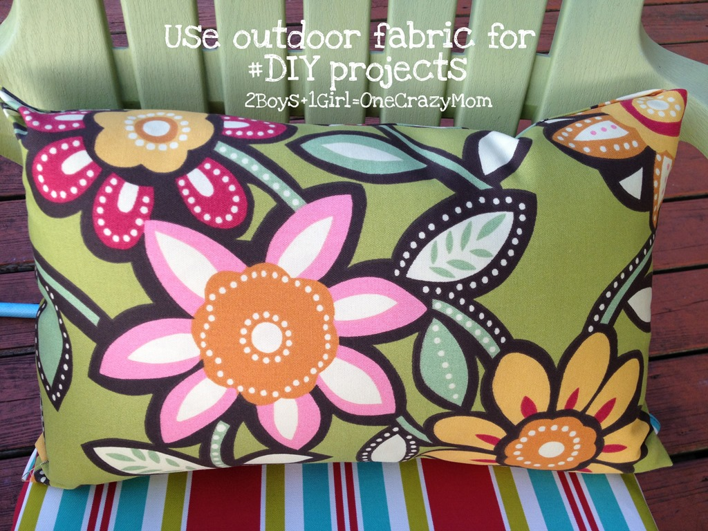 No Sew Outdoor Fabric Projects #Simple #Diy Pillows