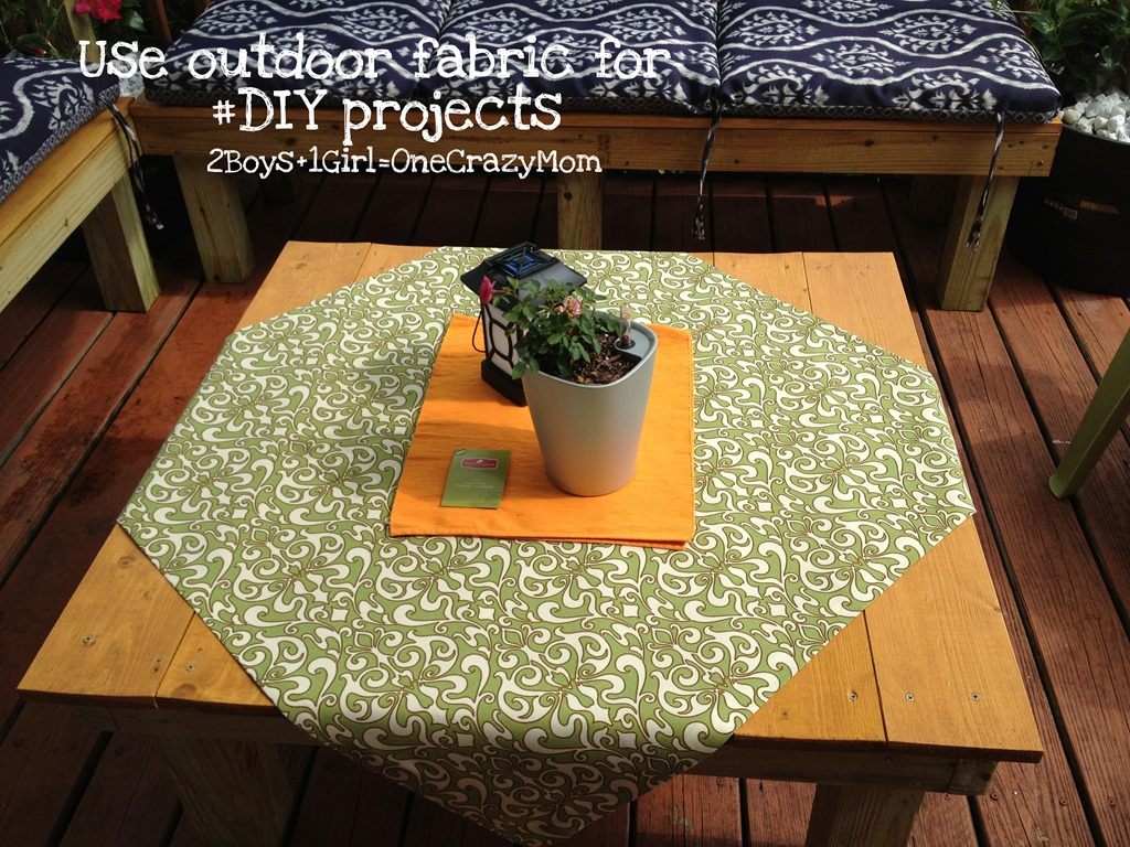 Simple #DIY outdoor No-Sew Fabric projects