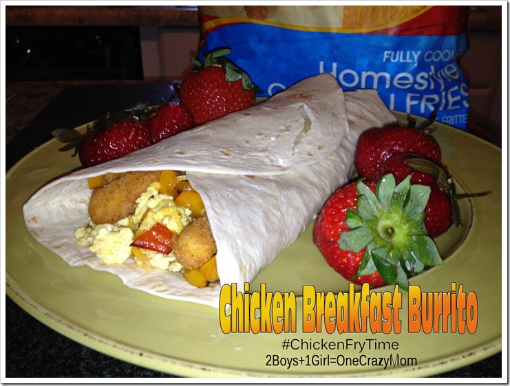 Simple Breakfast Chicken Burrito with #ChickenFryTime #Yummy