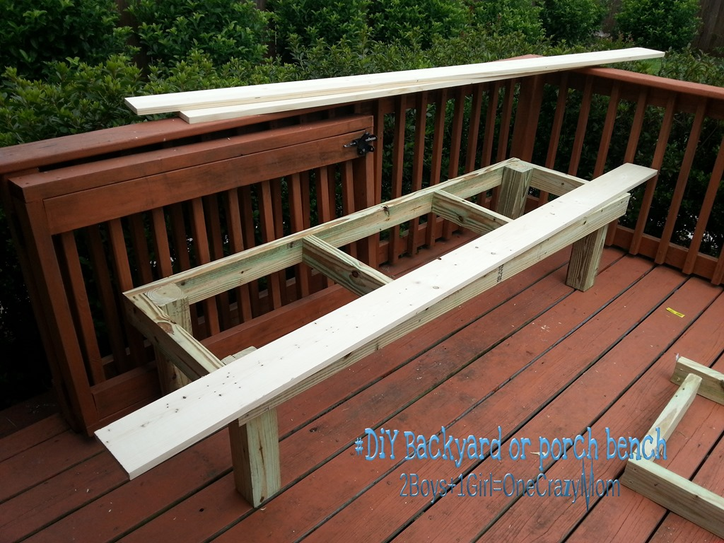 simple outdoor bench seat plans