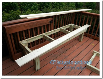 create your very own #DIY backyard bench for extra seating in no time