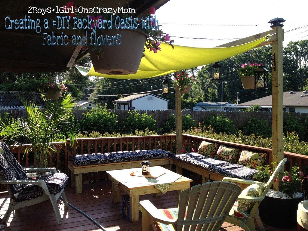 Create a simple #Fabric Sail to add shade to your outdoor space in no time #DIY