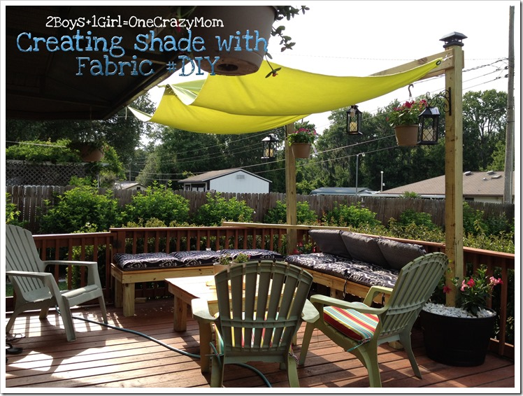 creating shade with fabric #DIY project