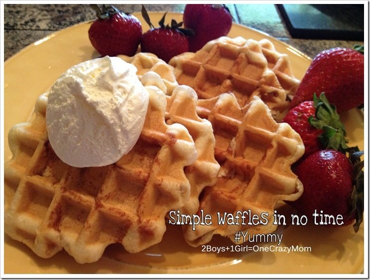 Create a #Simple Waffle Breakfast in no time #Yummy
