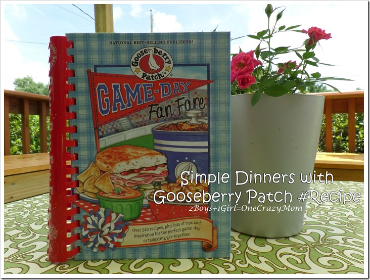 """Creating a wonderful Slam Dunk dinner with Gooseberry Patch Game Day Fan Fare """"Enchilada Lasagna"""" in no time"""