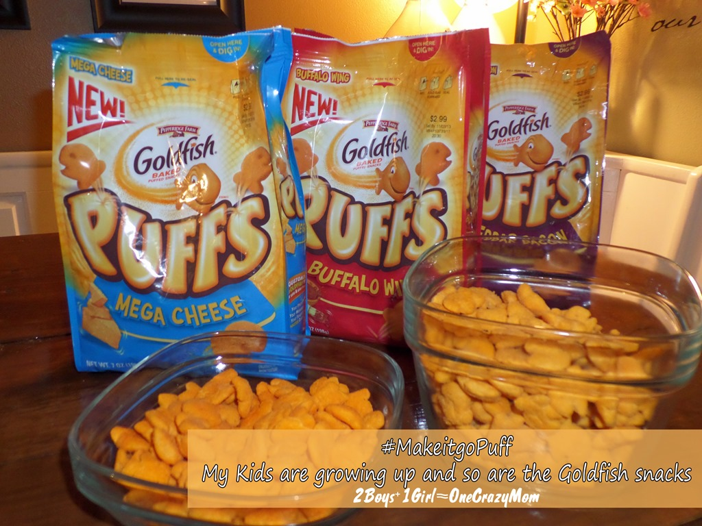 My kids are growing up and so are the Goldfish Snacks turning into Puffs  #makeitgopuff