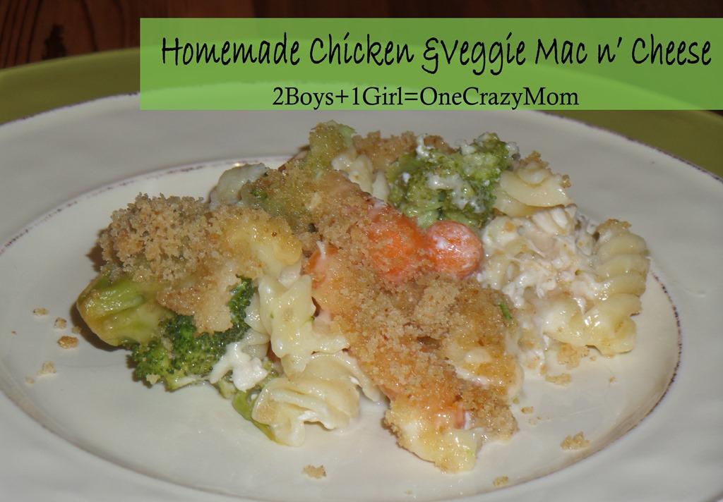 Homemade Chicken & Veggie Mac n' Cheese Casserole #Recipe #CountryCrockCasserole idea and #Giveaway
