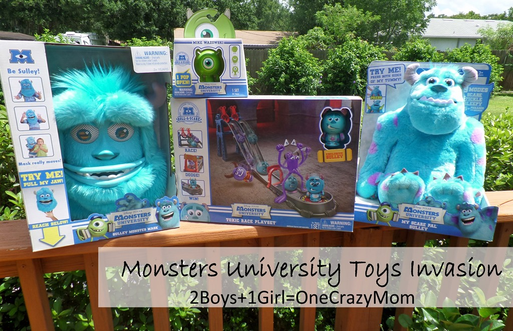 Disney's Monsters University toys are invading our home #Giveaway
