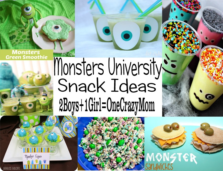 Monsters University Snack Ideas MonstersU MonstersUniversity