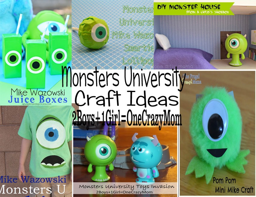 Keeping The Kids Entertained With Monstersuniversity Crafts Ideas