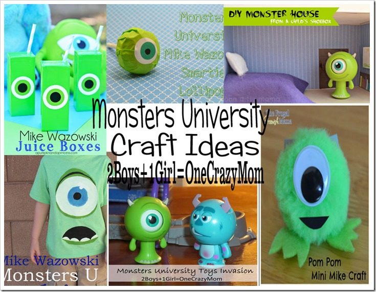 #MonstersUniversity craft ideas