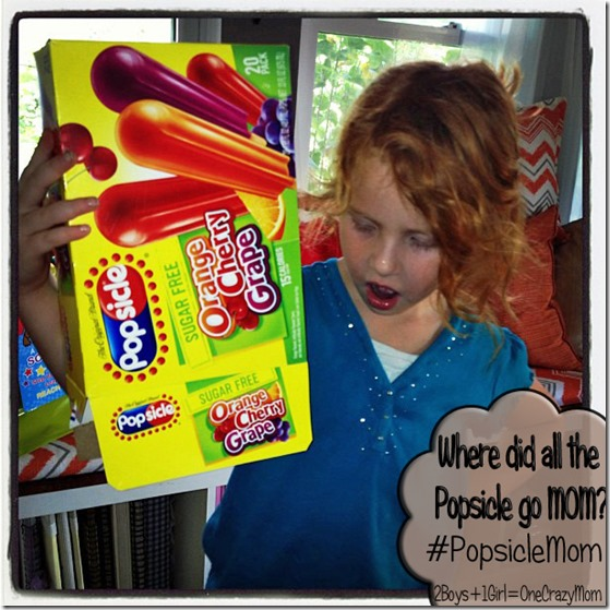 Where did all the Popsicle's go this summer ~ #PopsicleMom to the rescue #Giveaway