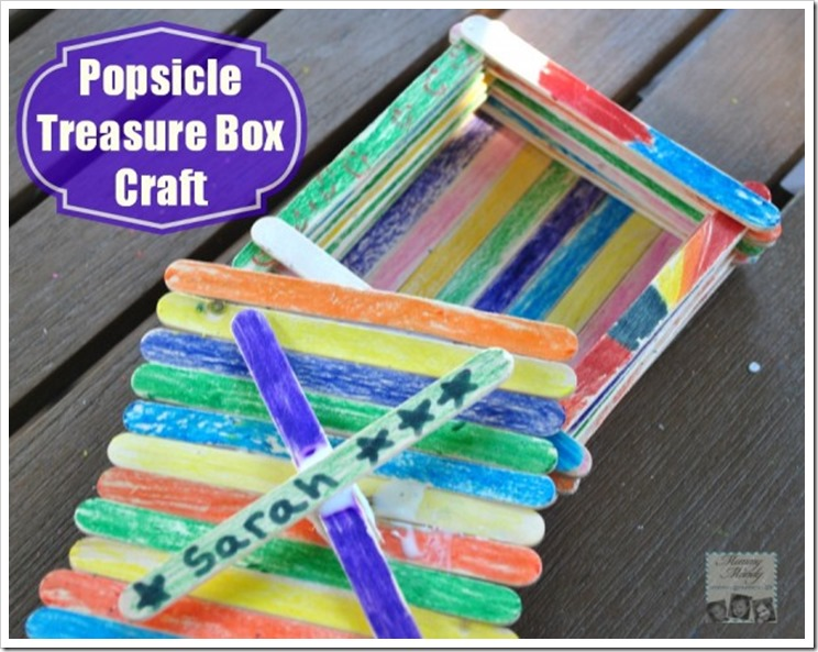 Popsicle Stick treassure box #Craft #popsicleMom