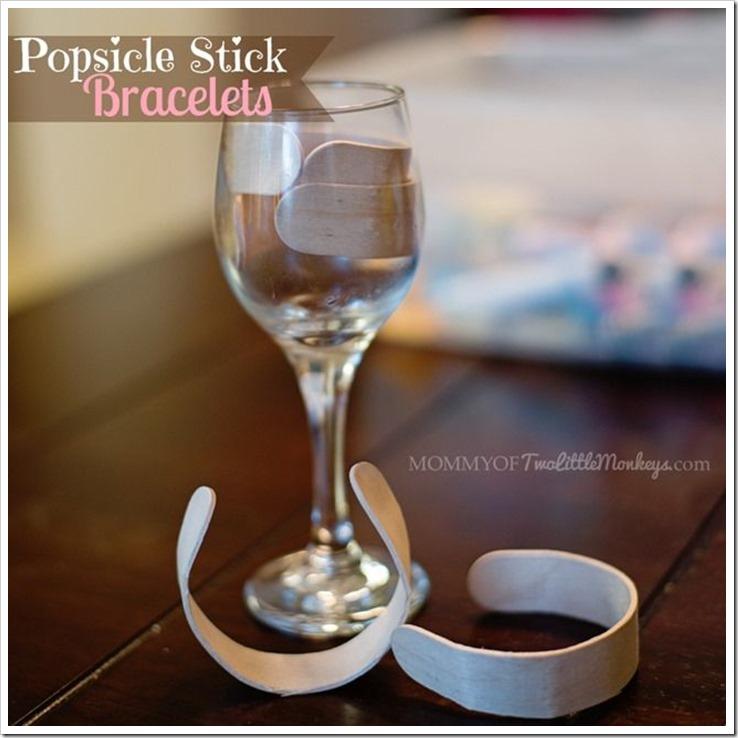 Popsicle stick bracelet #PopsicleMom
