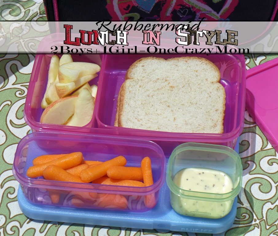 Send the kids to lunch in style with the Rubbermaid Lunch Blox #Giveaway