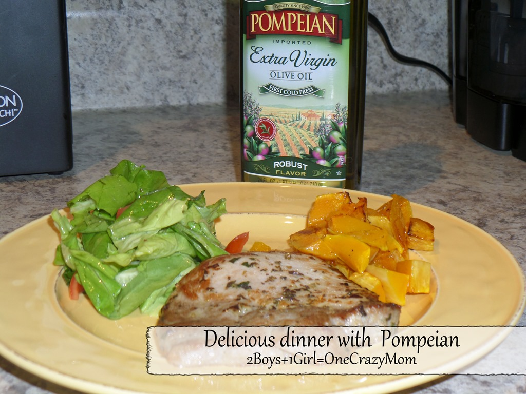 Create a Simple dinner with Pompeian #Review