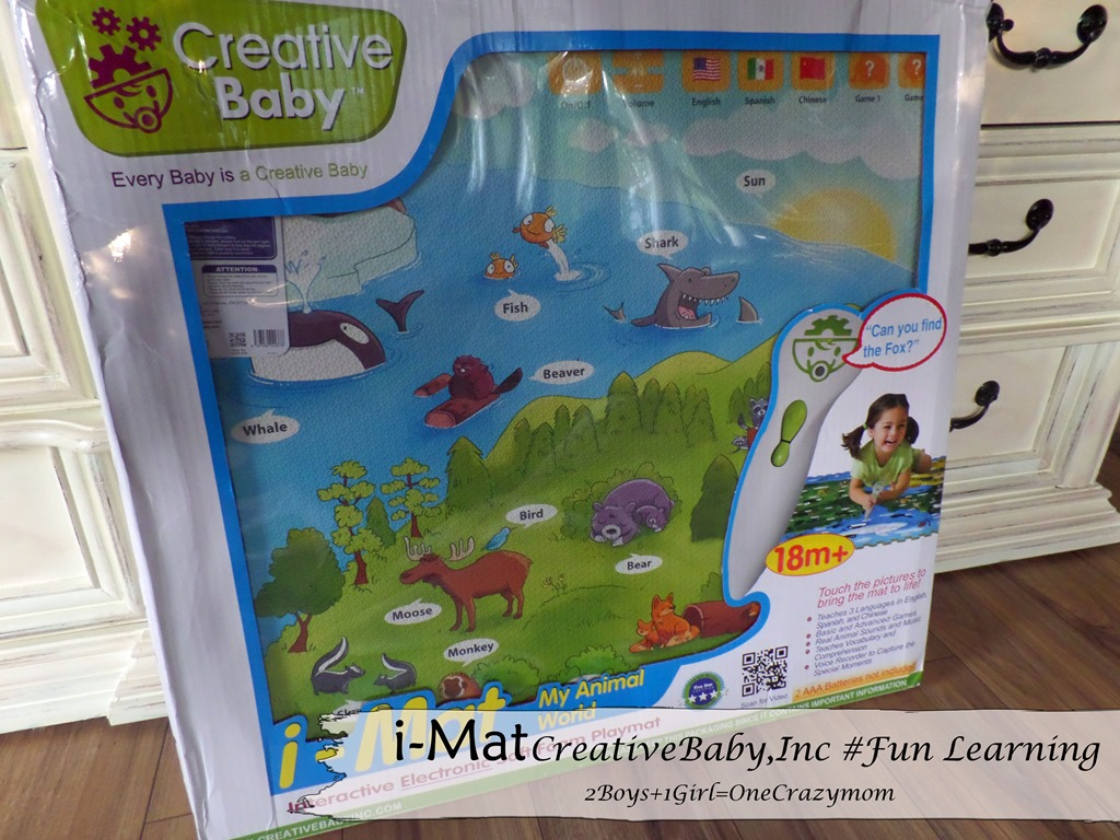 Lots of learning fun with i-Mat from Creative Baby #Giveaway