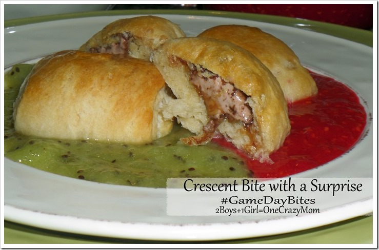 Bring Crescent Bites with a surprise for your next #GameDayBites Tailgating and you will be the hit of the party #Dessert