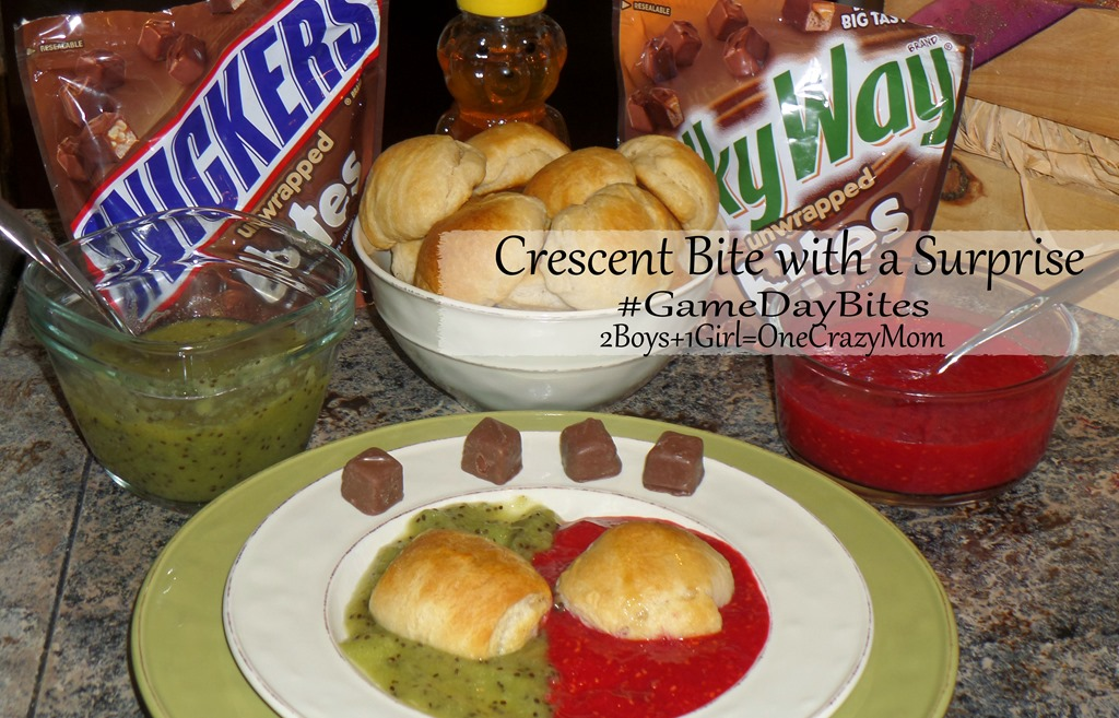 Bring Crescent Bites with a Mars surprise to your next #GameDayBites Tailgating and you will be the hit of the party #Dessert