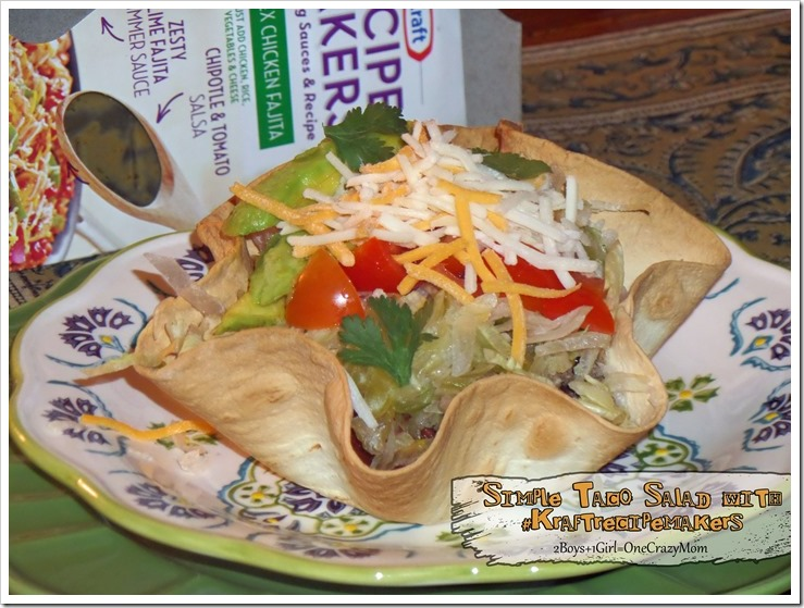 Dish up a Simple dinner in no time with #kraftrecipemakers we made a delicious Taco Salad #Shop