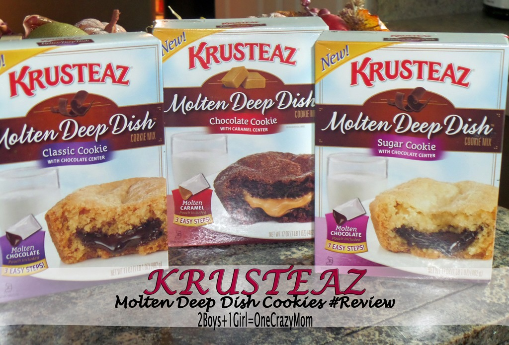 Making Molten Deep Dish cookies in your own kitchen with Krusteaz in no time at all ~#Giveaway