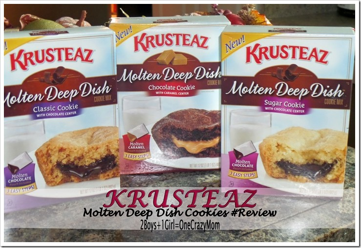 Making Molten Deep Dish cookies in your own kitchen with @Krusteazin no time at all