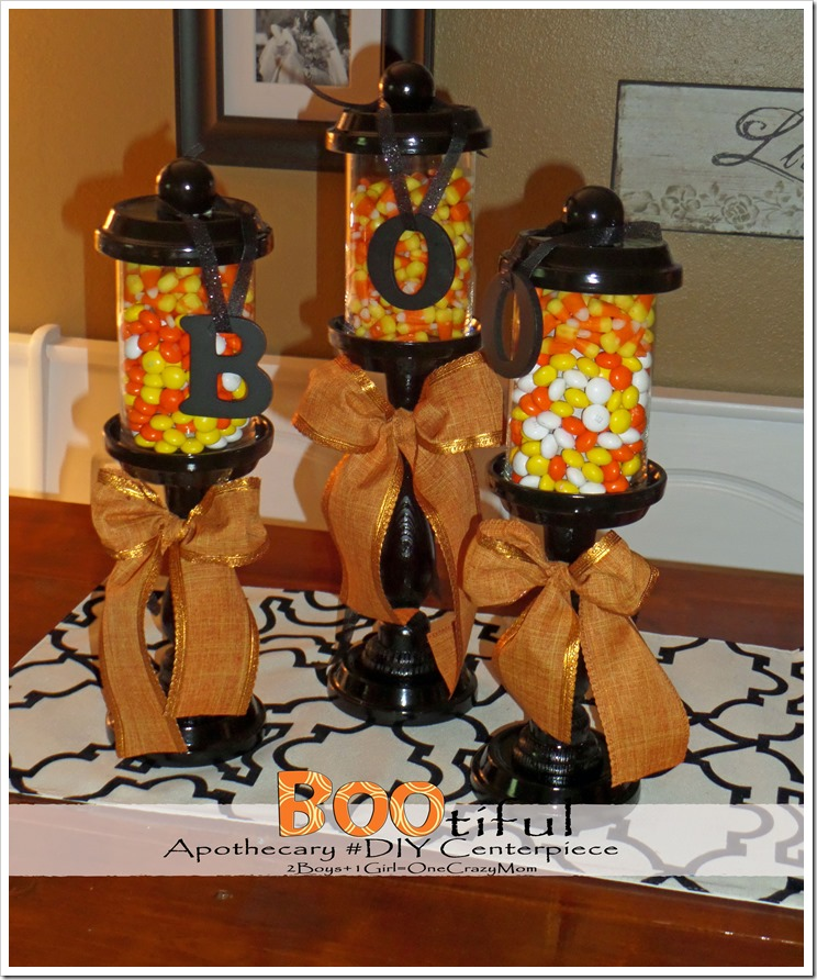 "Make your very own ""Boo""tiful Apothecary #DIY Centerpiece"