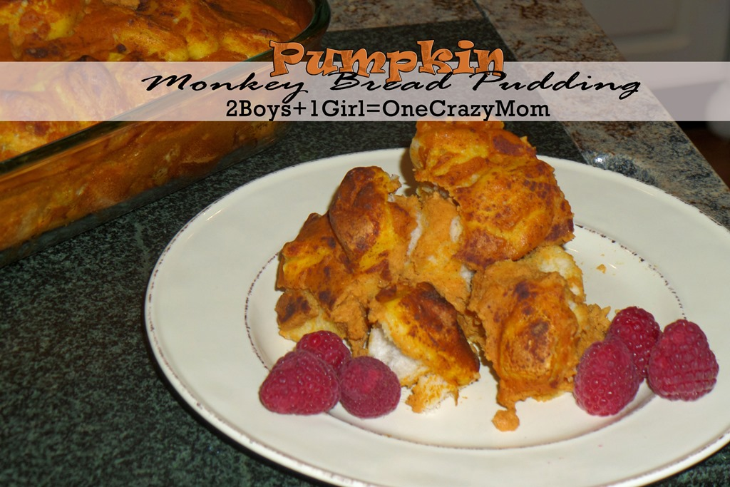 Sunday Brunch #Pumpkin Monkey Bread Pudding #Recipe