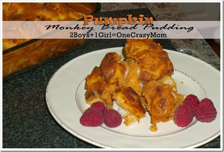 #Pumpkin Monkey Bread Pudding #Recipe