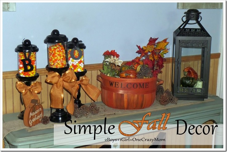 Simple way to decorate your house with Kohl's for #Fall that won't break the bank #DIY
