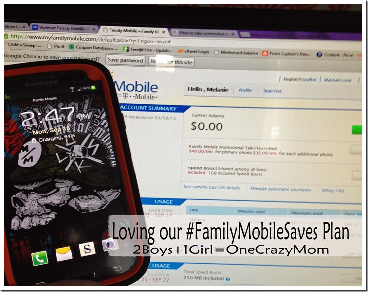 We love our #FamilyMobileSaves Plan from Walmart #ad #Shop
