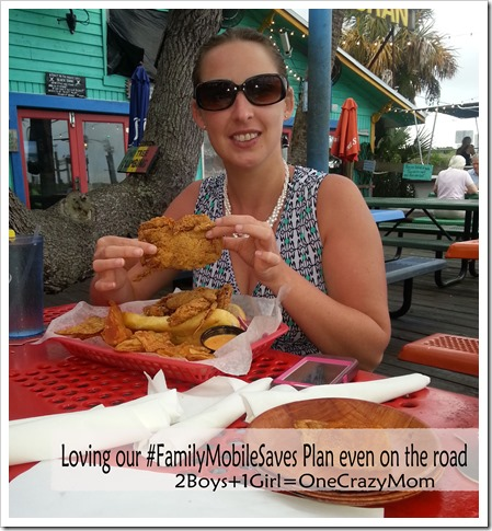 thanks to our cheap wireless cell plan I was able to find a great place to dine on vacation #FamilyMobileSaves #shop #ad
