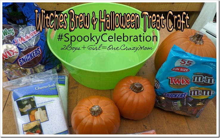 Witches Brew Halloween Recipe & Mummy Pumpkin Craft are my #SpookyCelebration creation in time for Halloween #shop