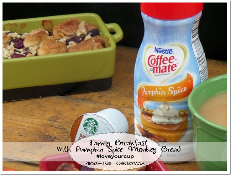 Enjoy a Sunday Breakfast in style with Pumpkin Spice & Raspberry Monkey Bread and you will #loveyourcup