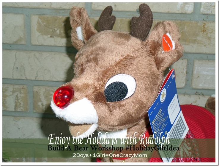 Find Rudolph with his red nose at Build-A-Bear Workshop this Holiday Season