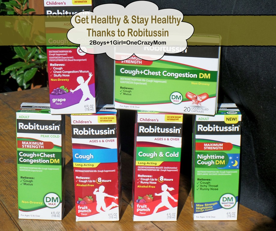 Get healthy and stay healthy with Robitussin this #Flu and Cold Season