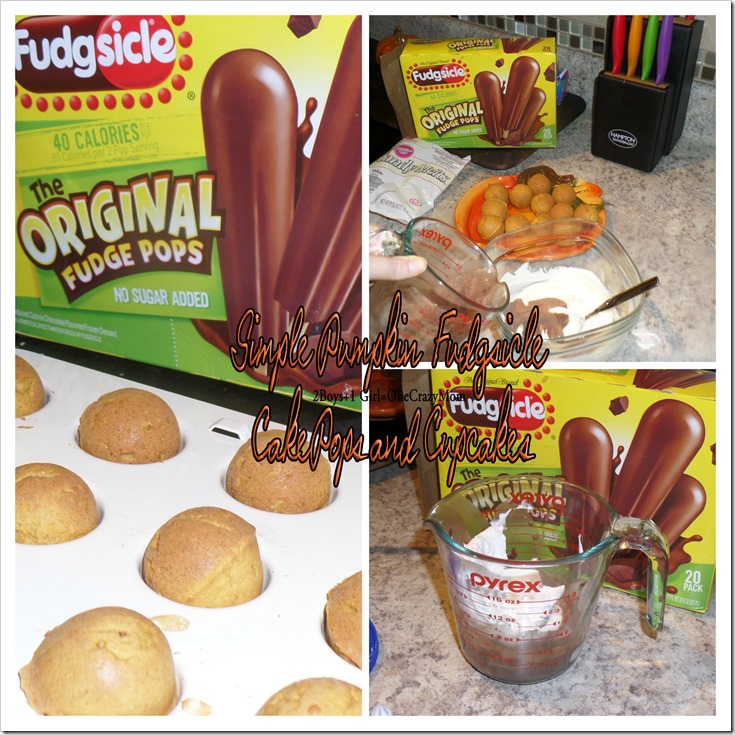 Make Pumpkin and Fudgsicle Cakepops #PopsicleMom copy