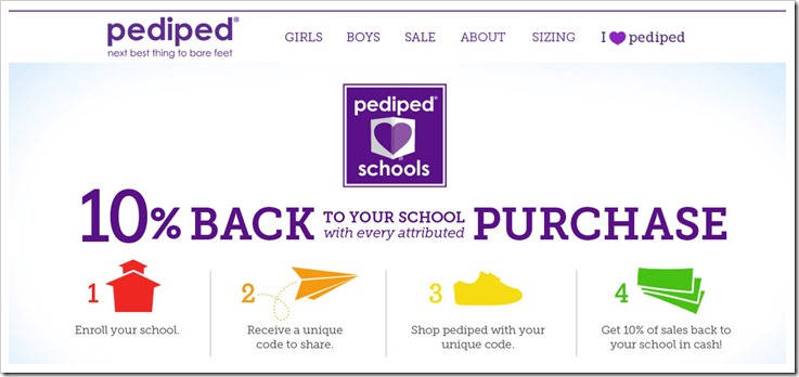 Pediped shoes gives back