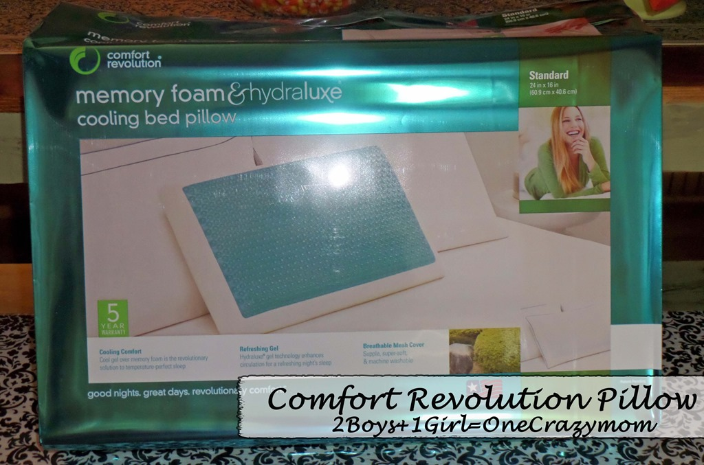 Get a restful night with a memory foam Hydraluxe Cooling Gel pillow from Comfort Revolution #Giveaway