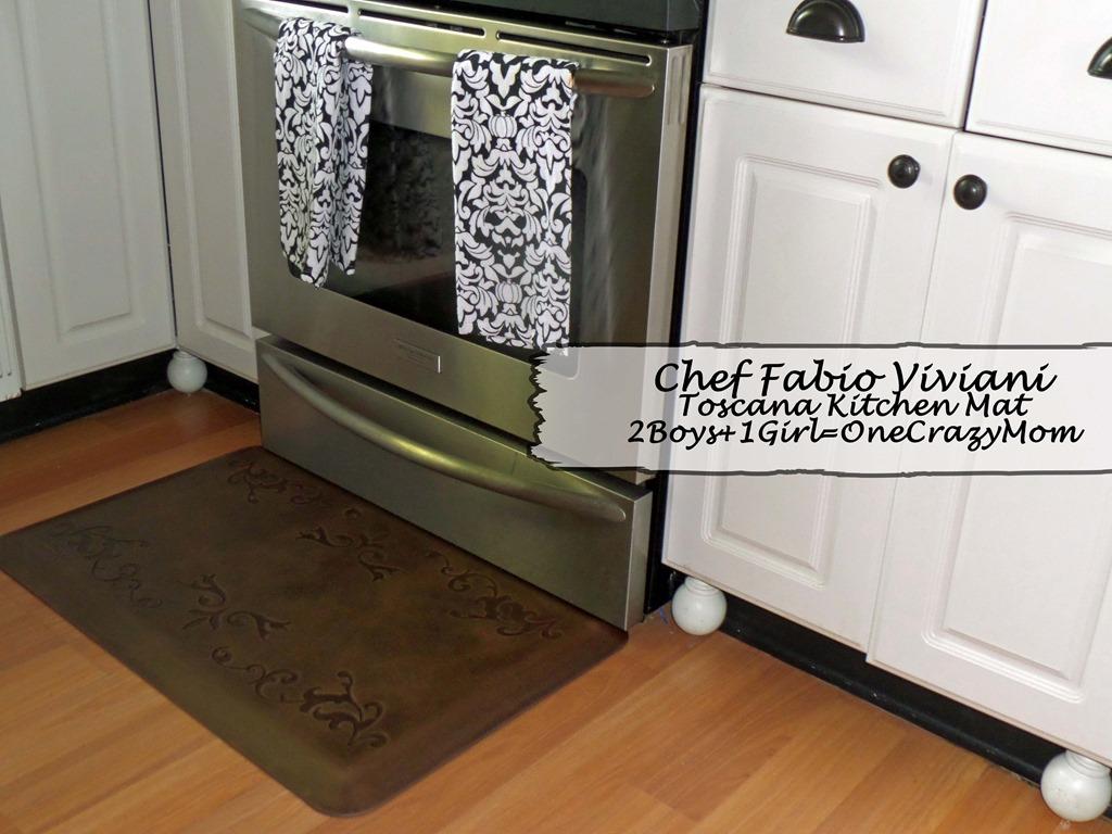 Chef Fabio's delicious Pumpkin Pancakes & Kitchen Mat #Review
