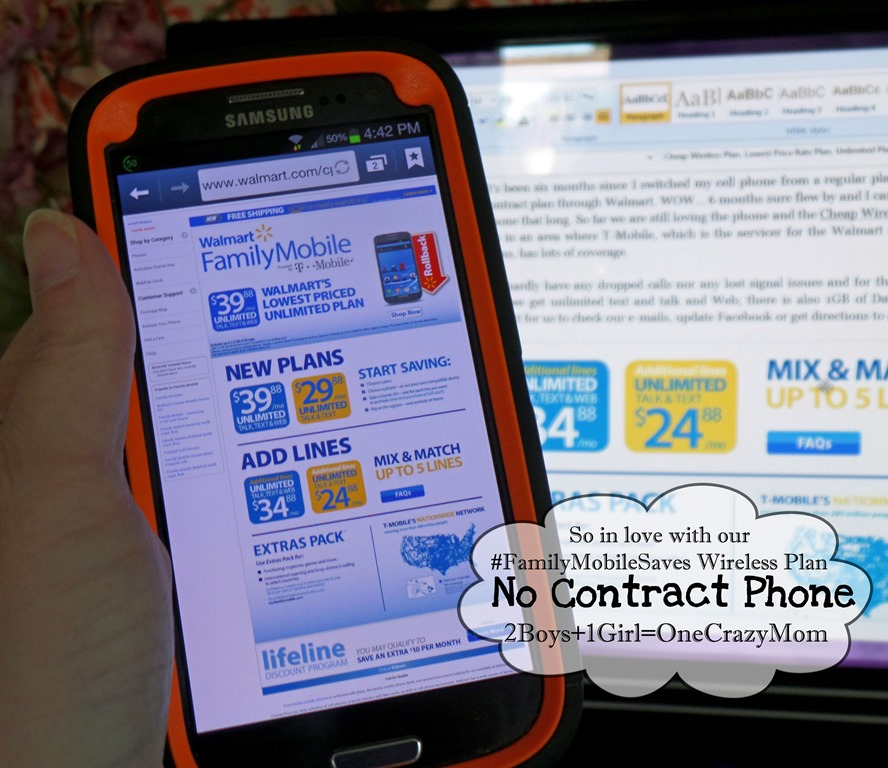 We are loving our Cheap Wireless plan without a contract