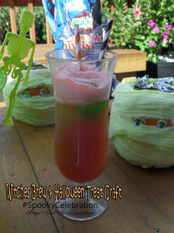 Witches Brew Halloween Recipe & Mummy Pumpkin Craft are my #SpookyCelebration creation in time for Halloween